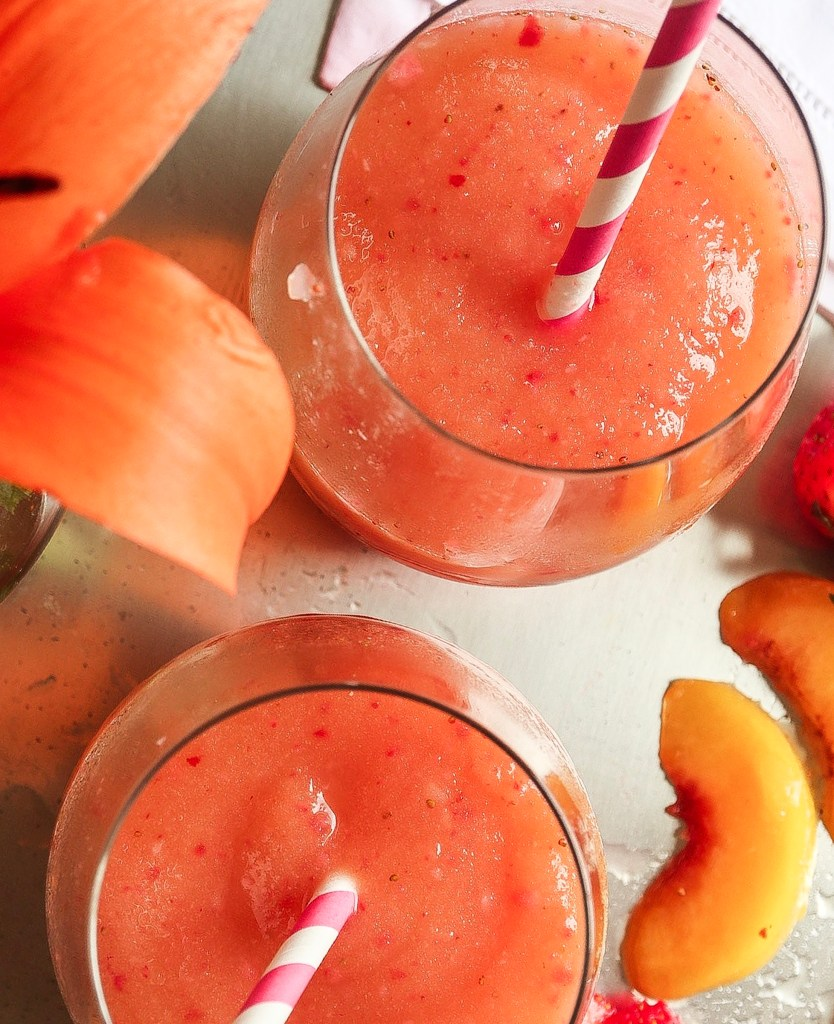 Strawberry Peach Frosé
