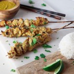 Coconut Curry Chicken Satay