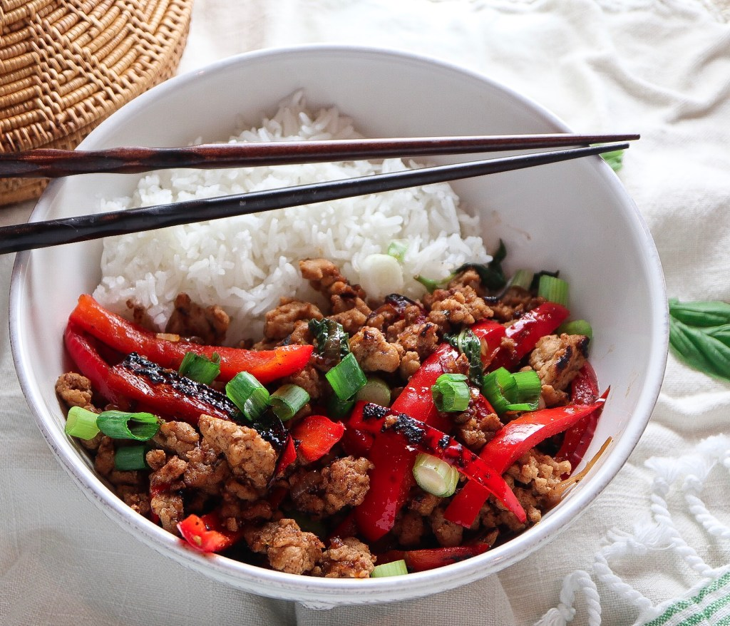 Thai Basil Chicken Bowls