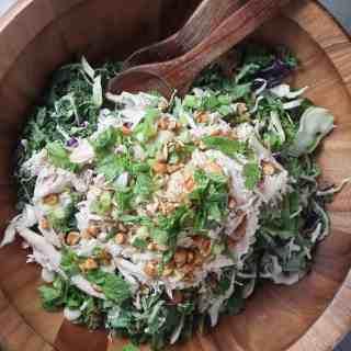 Chopped Chicken & Kale Salad with Peanut Vinaigrette