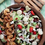 Grilled Shrimp Salad with Lemon Garlic Vinaigrette