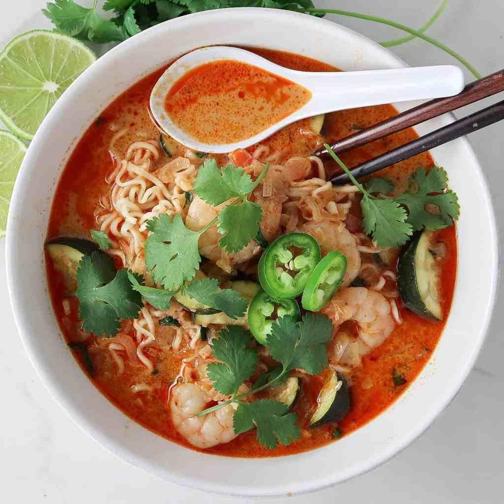 Red Curry Shrimp Ramen