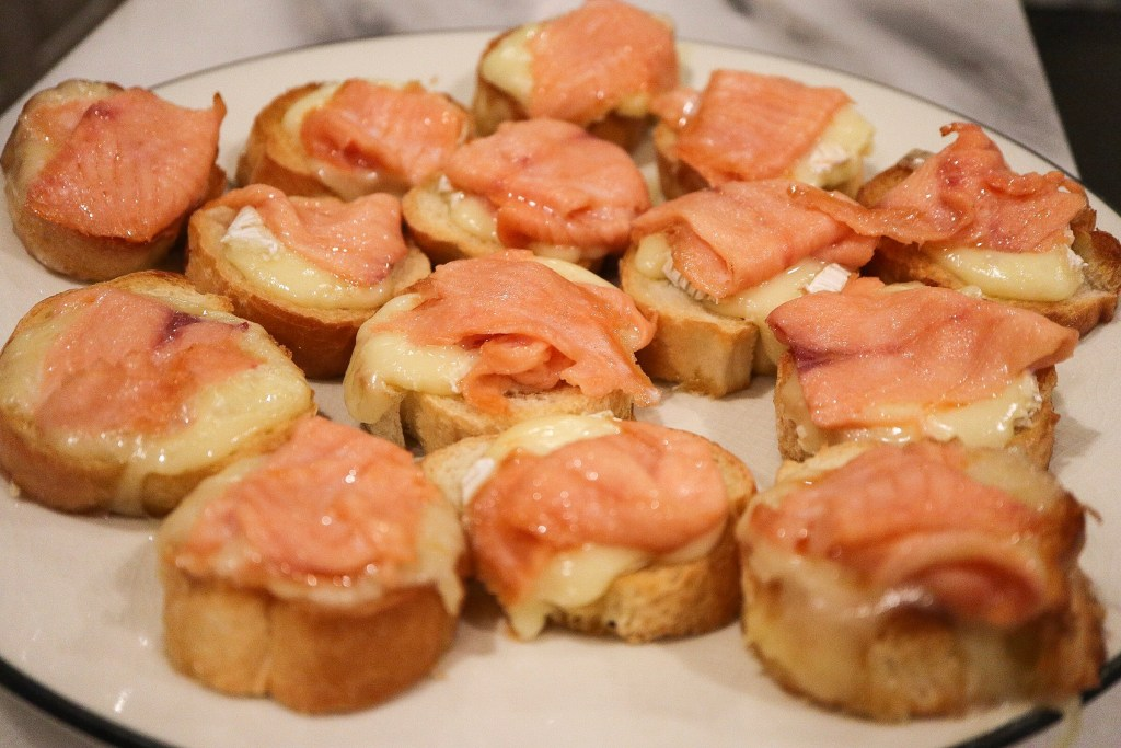 Smoked Salmon & Brie Crostini