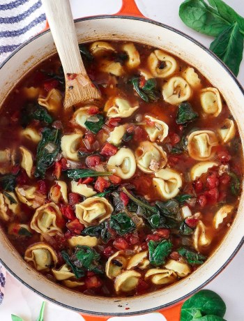 Italian Sausage and Spinach Tortellini Soup