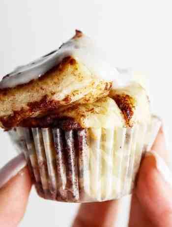 Mini Cinnamon Roll Muffin Bites