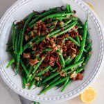 Haricots Verts with Bacon and Crispy Shallots