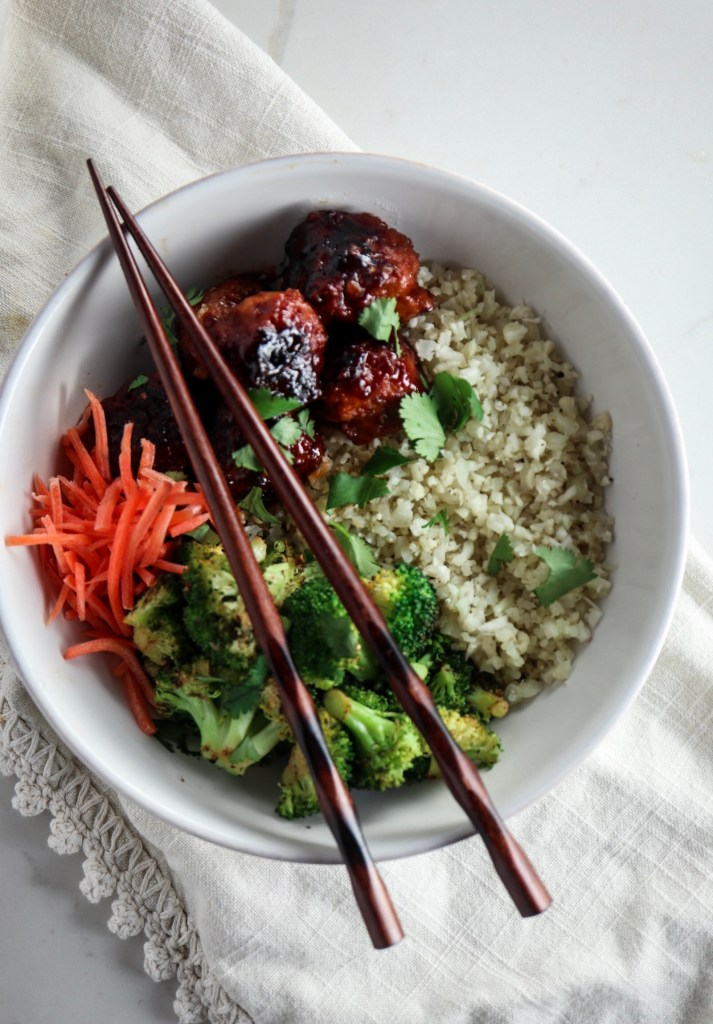 Instant Pot Hoisin Glazed Chicken Meatballs