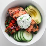 Salmon Tzatziki Bowls for Two