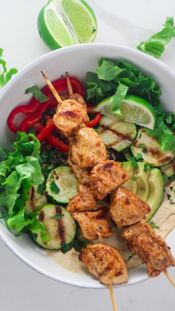 Chipotle Lime Chicken Quinoa Bowls