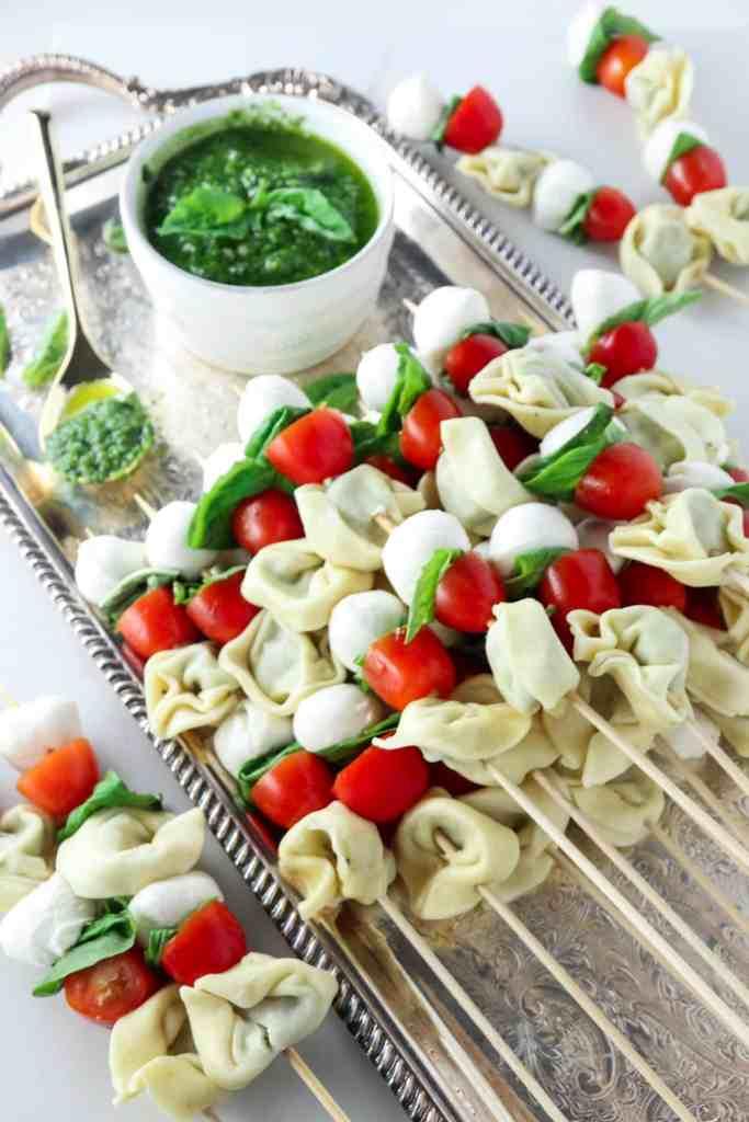 Tomato Basil Tortellini Skewers
