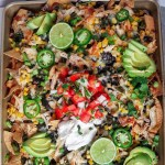 Green Chile Chicken Nachos