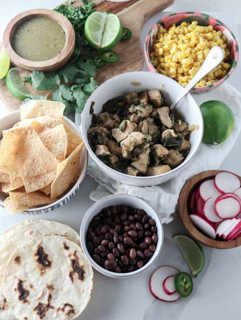 Instant Pot Poblano Chicken Tacos