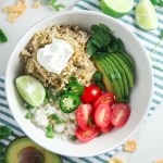 Tomatillo Chicken & Rice Bowls