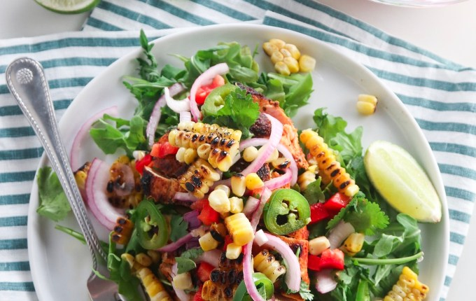 Chili Lime Grilled Chicken with Charred Corn Salsa