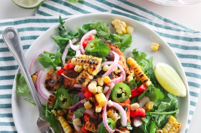 Grilled Chicken with Charred Corn Salsa