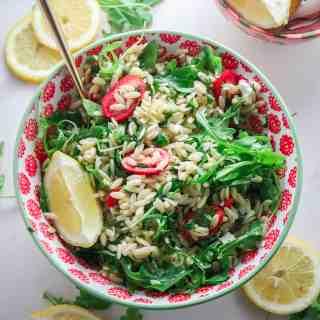 Lemon Herb Orzo Salad