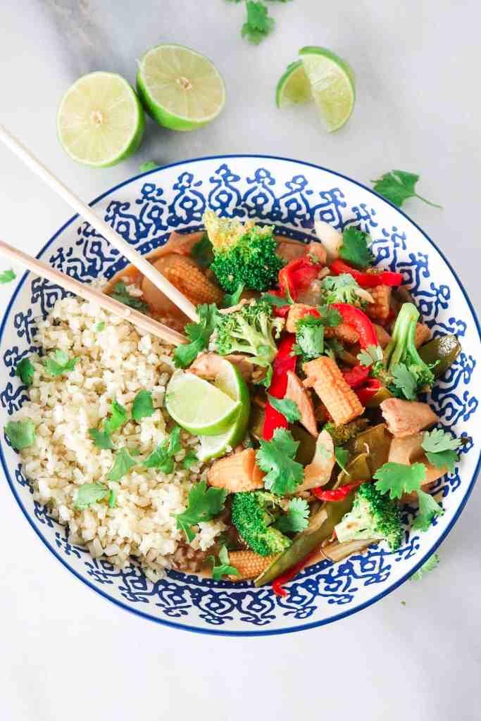 Red Curry Chicken with Cauliflower rice