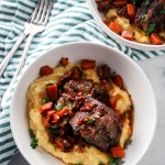 Instant Pot Short Ribs with Creamy Parmesan Polenta
