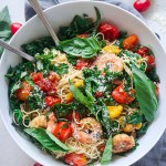 Angel Hair with Spicy Shrimp and Kale