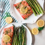 Sheetpan Lemon Dill Salmon and Asparagus (only 5 ingredients!)
