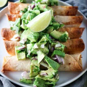 Baked Chipotle Chicken Taquitos