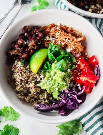 Instant Pot Chicken Tinga Bowls