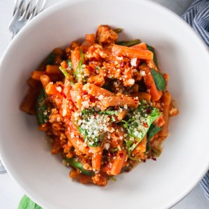 5 Ingredient Instant Pot Ground Turkey Red Lentil Penne