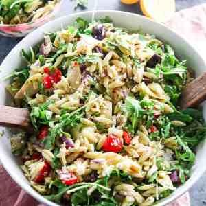 Mediterranean Pesto Orzo Salad