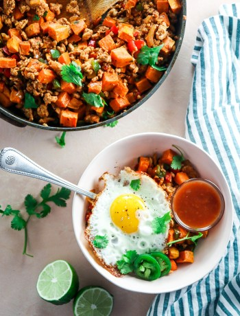 Ground Turkey Sweet Potato Hash