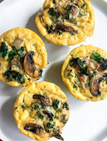 Mushroom Kale Egg Cups (low-carb!)