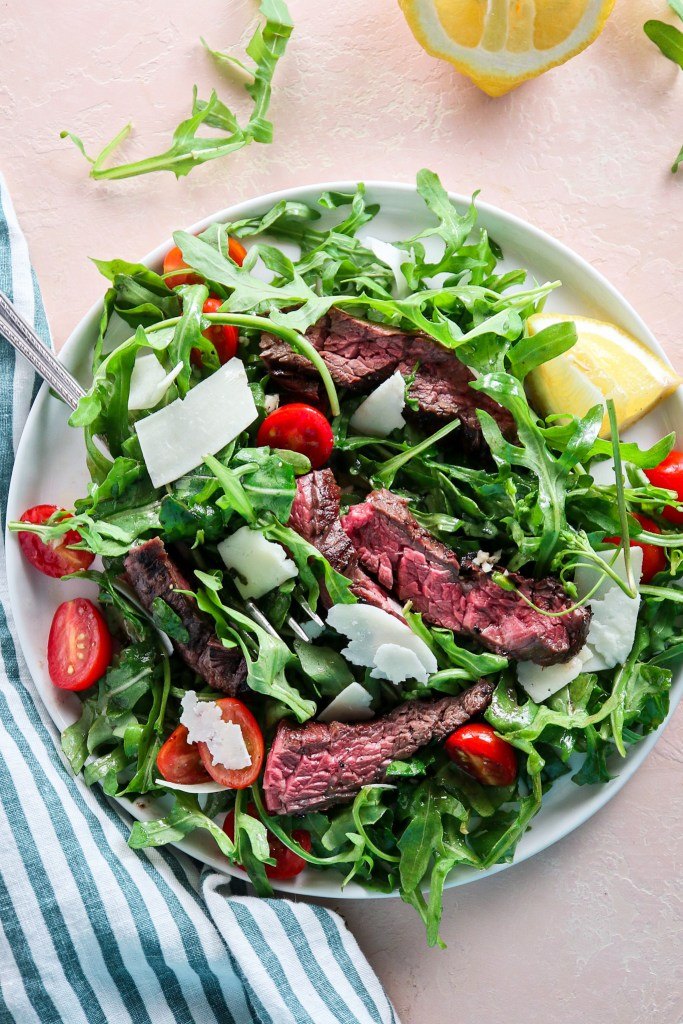 Grilled Steak and Arugula Salad