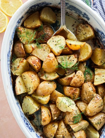 Lemon Dill Roasted Potatoes