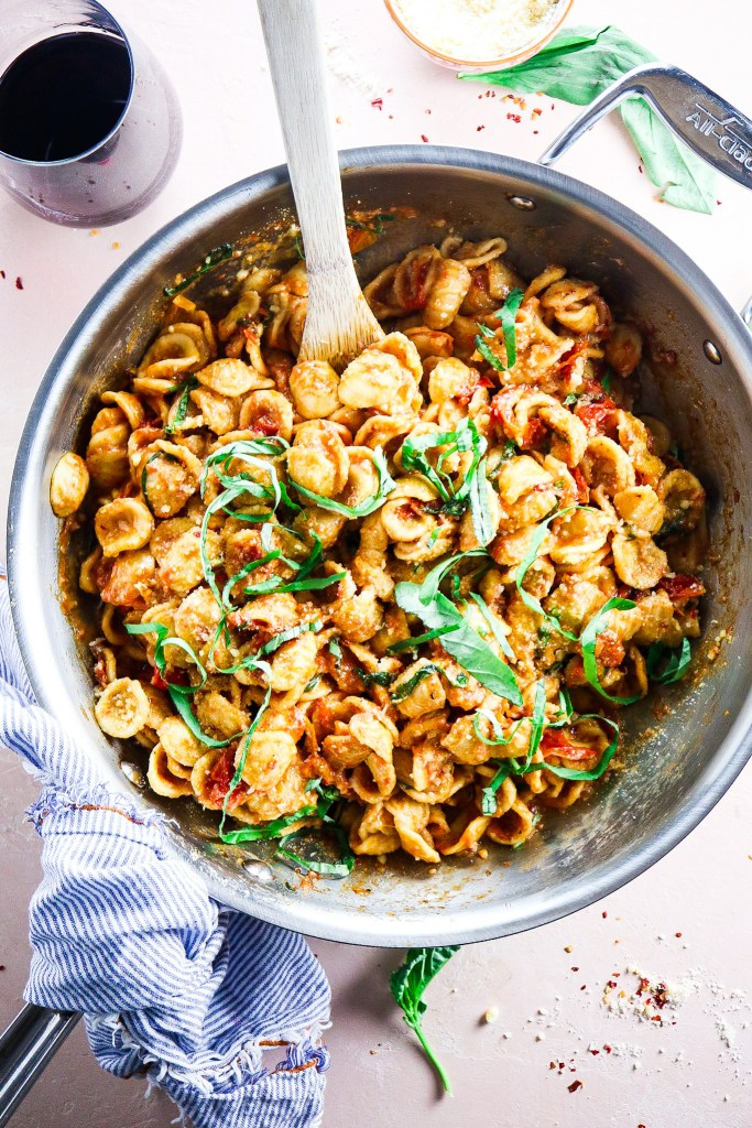 5 Ingredient Burst Tomato Orecchiette
