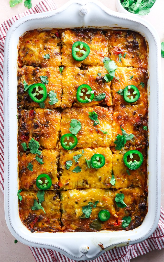 Make Ahead Hash Brown Chorizo Breakfast Casserole