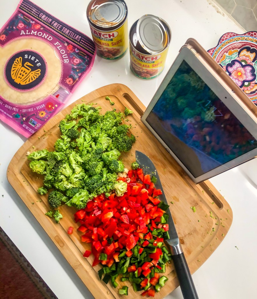 Easy Grain Free Veggie Enchiladas