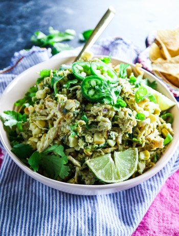 Chicken Salad with Grilled Corn and Poblanos
