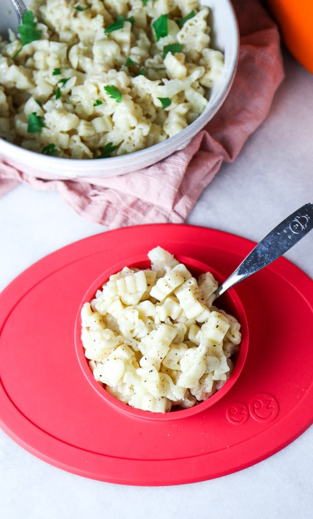 One Pot 5 Ingredient Cauliflower Mac & Cheese (toddler approved)