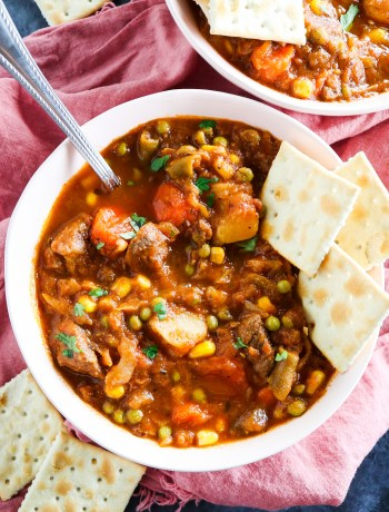 Zsa Zsa's Vegetable Beef Soup