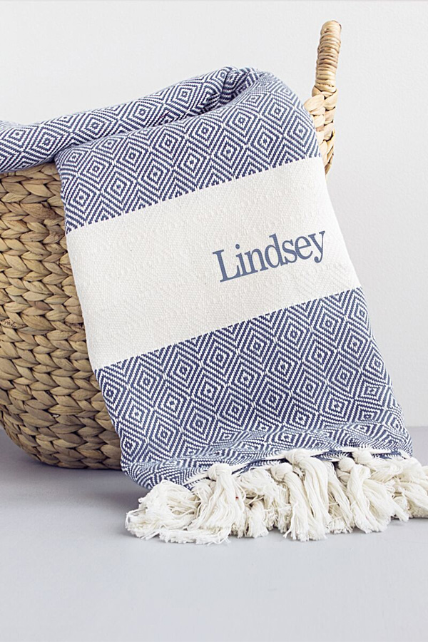 personalized turkish throw blankets