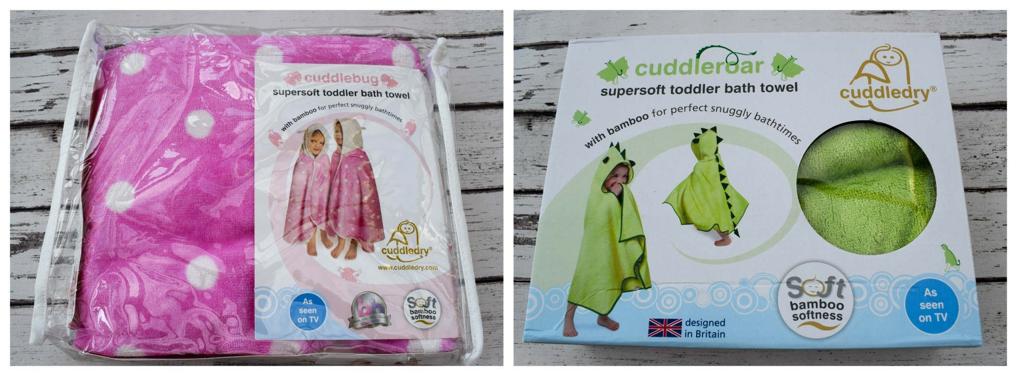 Cuddledry toddler towels - the delivery