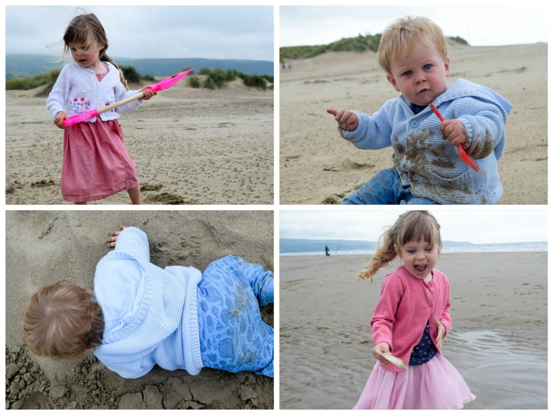 camping with kids - fun at the beach