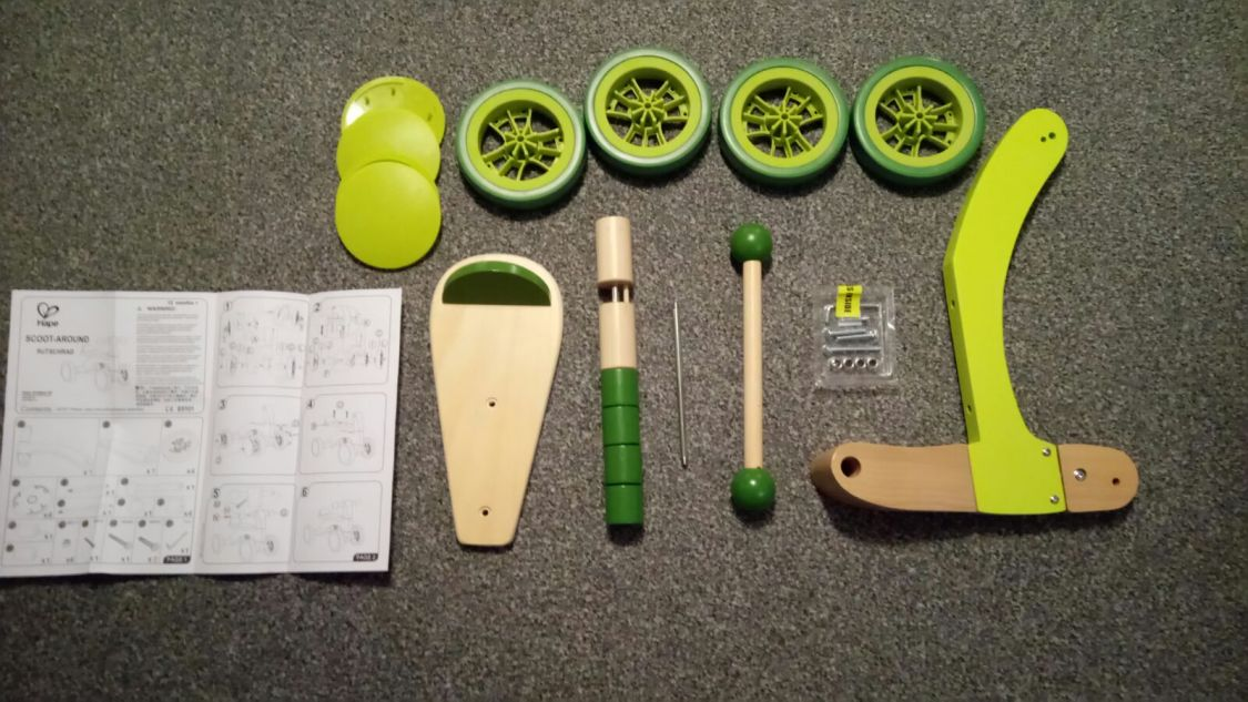 Hape Scoot Around - wooden rider - self assembly