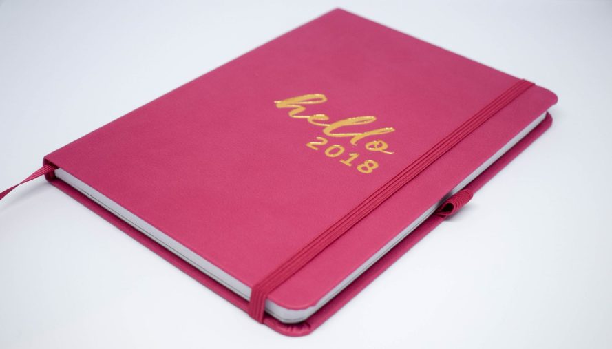 Busy B 2018 Family Diary - pink bold and beautiful