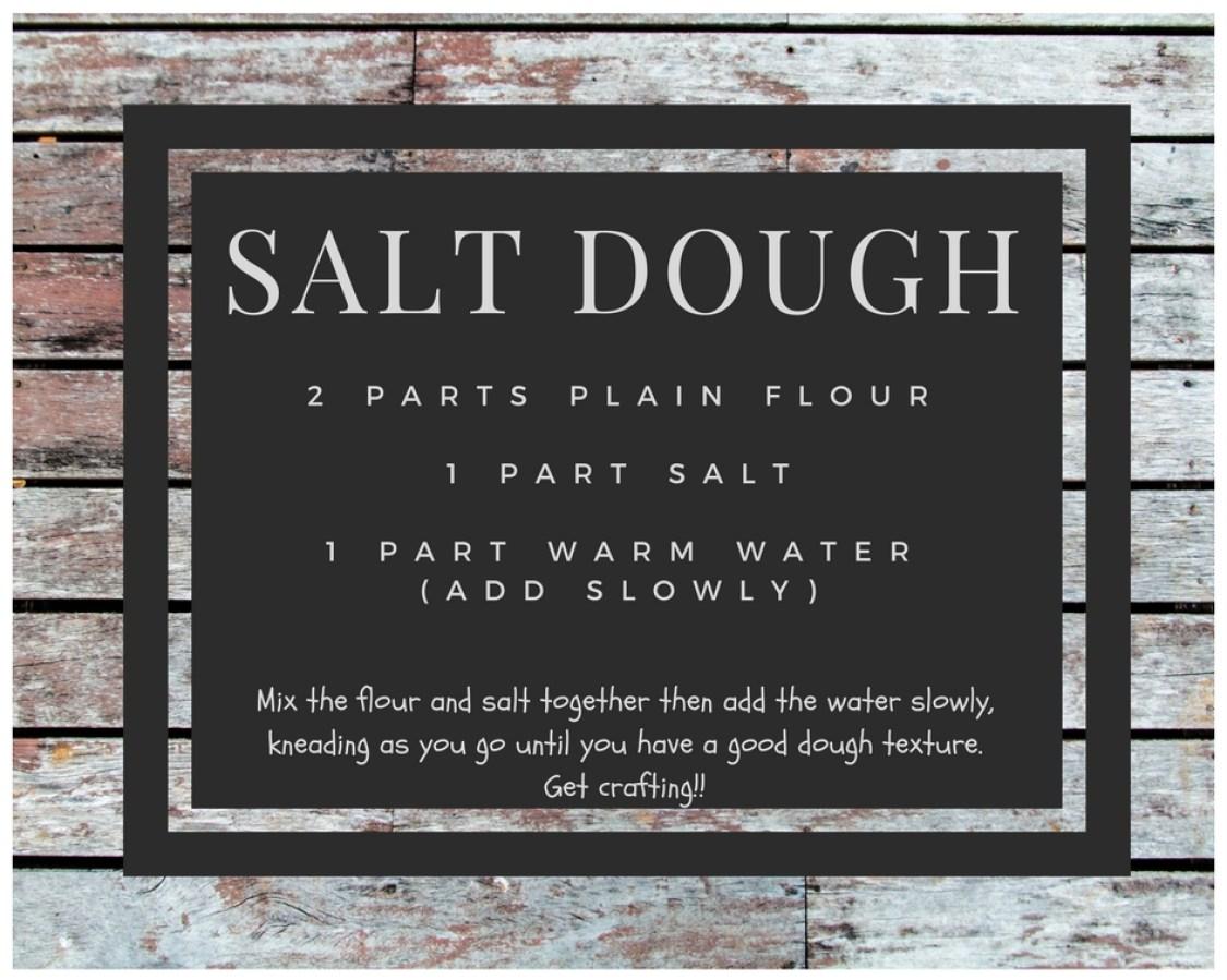 salt dough trees - the recipe