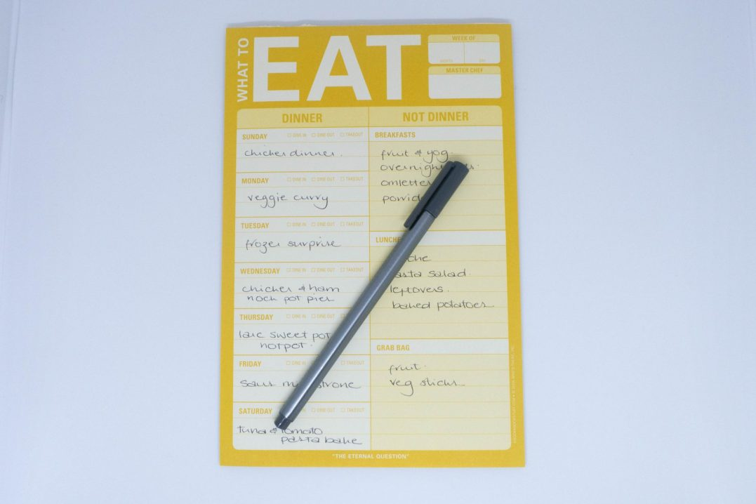 a guide to meal planning - the plan