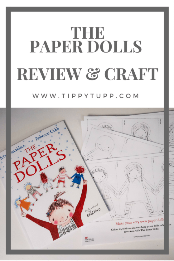the paper dolls - book review - craft activity - toddler crafts