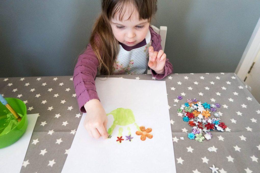 Handmade Mothers Day - handprint plants - a work in progress