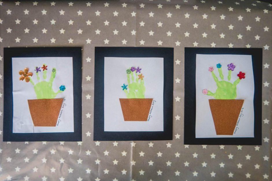 Handmade Mothers Day - handprint plants