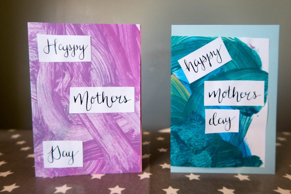 Toddler Crafts - Abstract Mother's Day Card - the end result