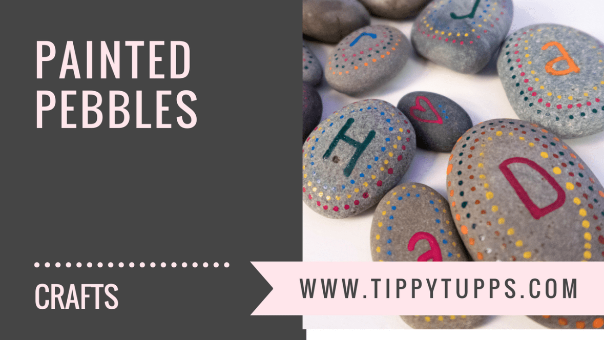 painted pebbles - craft activity - blog header image